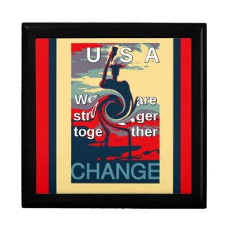 Hillary USA we are stronger together Keepsake Box