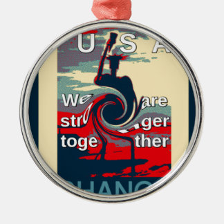 Hillary USA we are stronger together Metal Ornament