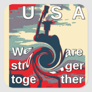 Hillary USA we are stronger together Square Sticker