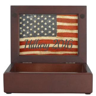 Hillary Vintage Flag.jpg Memory Box