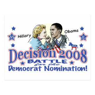 Hillary vs. Obama Postcard