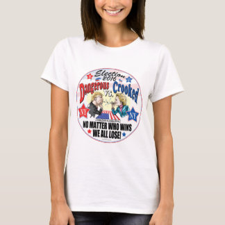 Hillary VS Trump Spitball Politics T-Shirt