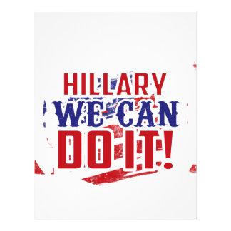 Hillary We Can Do It! Letterhead