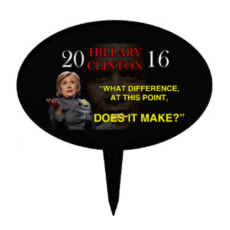 HILLARY WHAT DIFFERENCE CAKE TOPPER