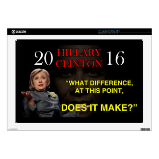 """HILLARY WHAT DIFFERENCE DECAL FOR 17"""" LAPTOP"""