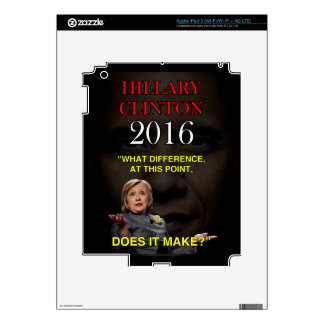 HILLARY WHAT DIFFERENCE DECALS FOR iPad 3