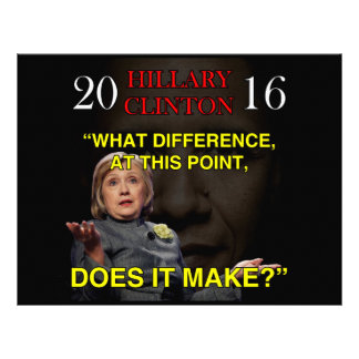 HILLARY WHAT DIFFERENCE LETTERHEAD