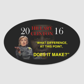 HILLARY WHAT DIFFERENCE OVAL STICKER