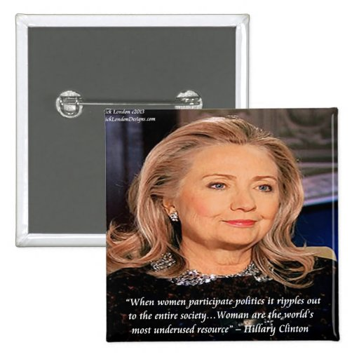 Hillary Women Resource Quote 2 Inch Square Button