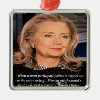 Hillary Women Resource Quote Christmas Ornaments