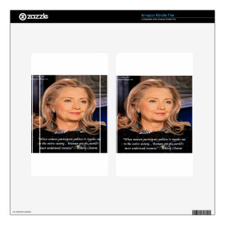 Hillary Women Resource Quote Kindle Fire Skins