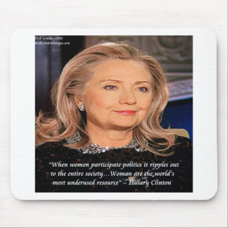 Hillary Women Resource Quote Mousepad