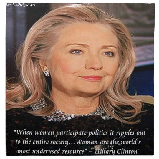Hillary Women Resource Quote Napkin