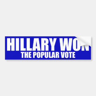 Hillary Won Bumper Sticker
