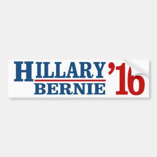 Hillary y Bernie 2016 - humor liberal - .png Pegatina Para Auto