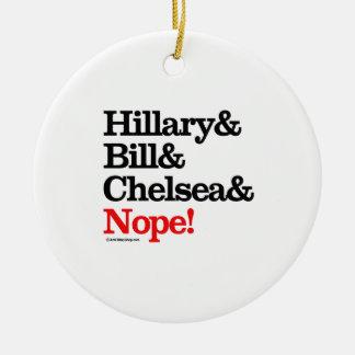 Hillary y Bill y Chelsea y Nope Ornamentos De Reyes Magos