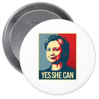 hillary - yes she can - -  button