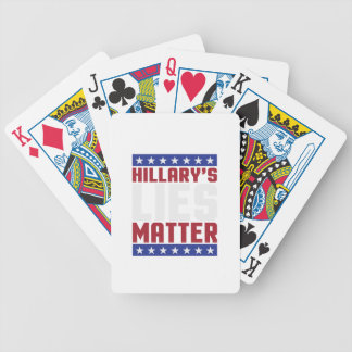 Hillary's Lies Matter Bicycle Playing Cards
