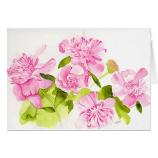 Hillary's Peonies (bright) Card