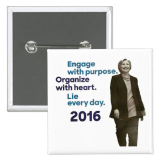 Hillary's Three Rules Pinback Button