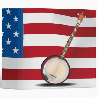 Hillbilly Banjo - USA 3 Ring Binder