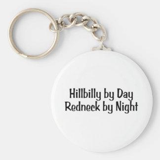 Hillbilly By Day Redneck By Night Keychain