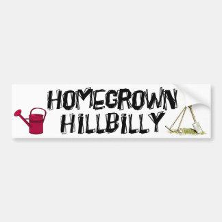 Hillbilly de cosecha propia pegatina de parachoque