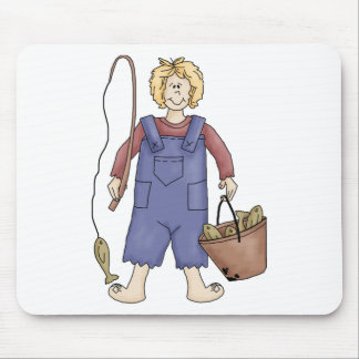 hillbilly fishing mouse pad