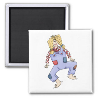 Hillbilly gal 2 inch square magnet