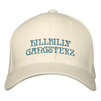 HILLBILLY GANGSTERZ EMBROIDERED BASEBALL HAT