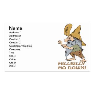 HillBilly Ho abajo Tarjetas De Visita