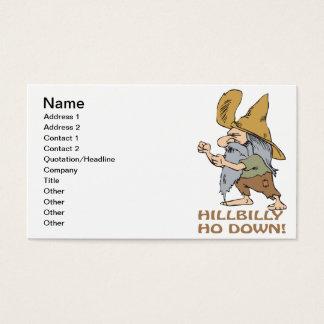 HillBilly Ho Down Business Card