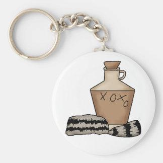 hillbilly-jug and hat keychain