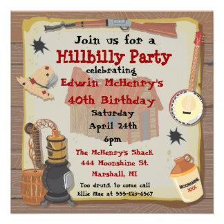 Hillbilly Party Invitation