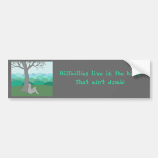 Hillbilly (Personalize) Car Bumper Sticker