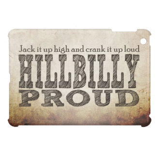 Hillbilly Proud Grunge Background Brown iPad Mini Cover