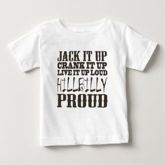 Hillbilly Proud Square Country Block Text Baby T-Shirt