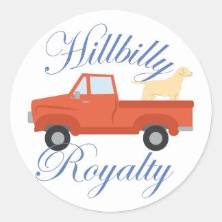 Hillbilly Royalty Classic Round Sticker