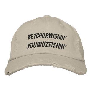 d232443f Hillbilly Slang Wishing Fishing Embroidered Baseball Cap