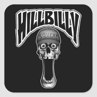 Hillbilly Square Sticker