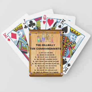 HILLBILLY TEN COMMANDMENTS PLAYING CARDS