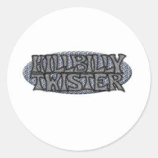 Hillbilly Twister Classic Round Sticker