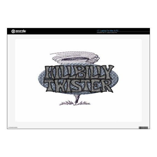 Hillbilly Twister Decal For Laptop