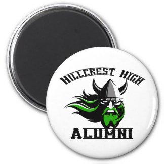 Hillcrest High Alumni 2 Inch Round Magnet