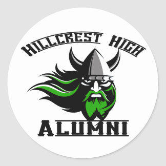 Hillcrest High Alumni Round Sticker
