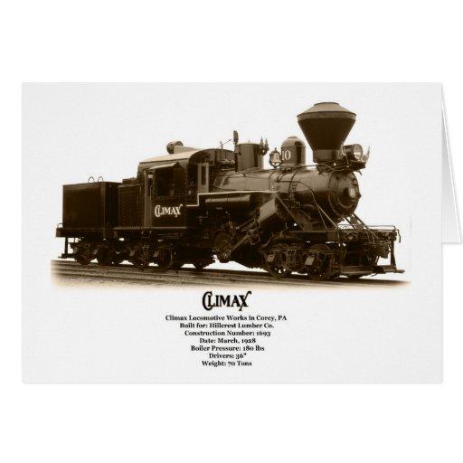 Hillcrest Lumber Co. Climax Locomotive Card