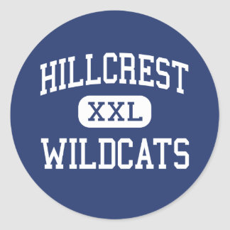 Hillcrest Wildcats Middle Dalzell Round Stickers