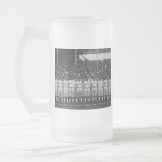 Hilldale Club baseball team Colored World Series Frosted Glass Beer Mug