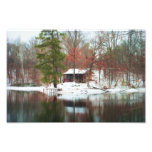 Hillfarm Rustic Cabin in the Woods - Print Photo