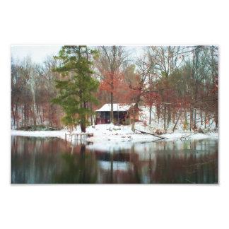 Hillfarm Rustic Cabin in the Woods - Print Photo Print